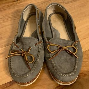 Frye Quincy tie soft leather boat shoes 11